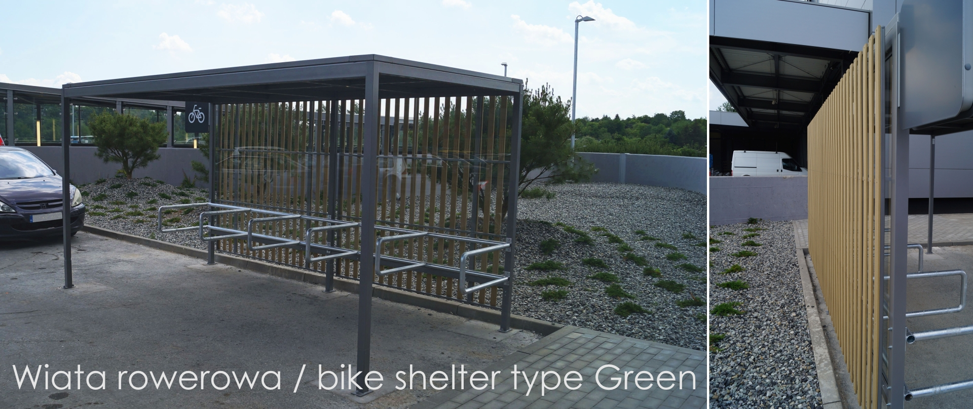 Wiata rowerowa (bike shelter) type Green