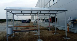 Smoker- bicycle shelter type F (pic.2)